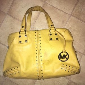 Mustard yellow Michael Kors bag